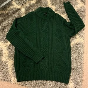 Jos A Bank lamb wool zip sweater